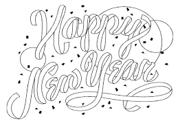 2017 doodle colouring page happy new year coloring pages ring in