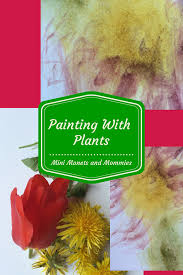 mini monets and mommies kids u0027 nature art activity painting with
