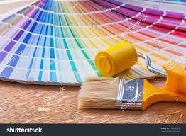 Color Palette Pantone Paint Roller Brush Pantone Color Palette Stock Photo 276863537