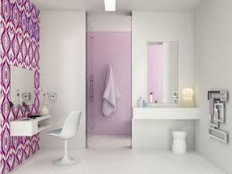 Purple Bathroom Ideas Contemporary Wallpaper For Bathrooms Room Design Ideas