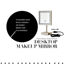 best online deals for conair makeup mirror black friday 2016 amazon com gurun square tabletop clear makeup mirrors with led