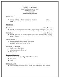 sample academic resume for college application college resume