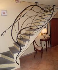 interior cozy picture of black iron spiral staircase decoration