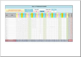 Attendance Spreadsheet Free Daily Attendance Sheet For Excel 2007 2016