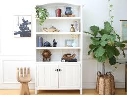 chic boho chic solid wood antique bookshelf hutch no324