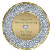 wedding anniversary plates anniversary plates zazzle
