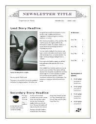 10 best images of newsletter template word free download free