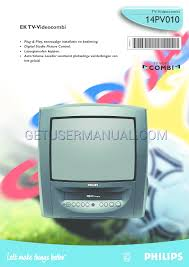 philips tv vcr combo 14pv010 user u0027s manual download free
