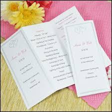 diy wedding programs kits do it yourself wedding invitations and wedding programs