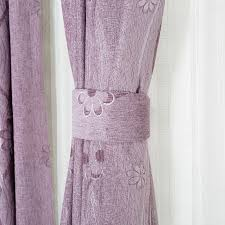 Lilac Curtains Lilac Polyester Blackout Curtain For Living Room