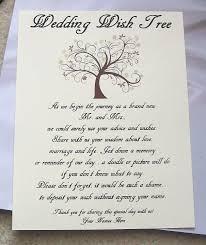wedding wishes tree wishing tree tags sign fall tree customize