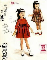 girls dress 1960s vintage sewing pattern sz 5 karensvariety com