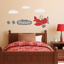 all wall decals stephen edward graphics airplane with boys name wall decal de0002