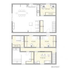 plan etage 4 chambres maison étage 4 chambres plan 12 pièces 63 m2 dessiné par mariemik