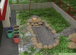 Waterfall In Backyard How To Build A Waterfall With Pictures Wikihow