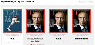 time puts vladimir putin on its front cover everywhere but america