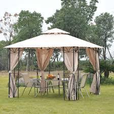 Gazebo Awning Outsunny 10 U0027x10 U0027 Gazebo Canopy Garden Shade Outdoor Waterproof