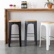 tabouret de cuisine tabouret de bar bois up high by drawer