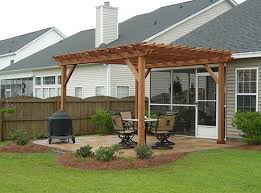 Diy Pergola Ideas by Woodworking Supplies Atlanta Diy Pergola On Concrete Patio Wall