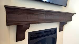 diy fireplace mantel shelf youtube