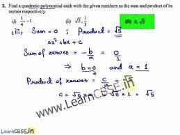cbse class 10 maths solutions polynomials ex 2 2 q2 ncert