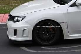 spied subaru wrx sti spec c spotted testing on the nürburgring