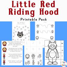 red riding hood printables activities pack fun mama