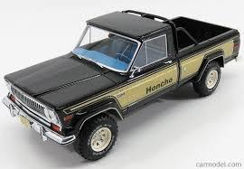 amc jeep j10 bos models bos264 scale 1 18 jeep j10 honcho pick up 1976 black