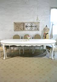 charming dining table painted cottage chic shabby white french