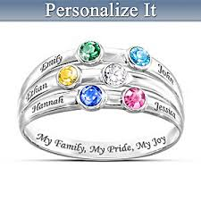 family birthstone rings personalized birthstone ring my family my pride my