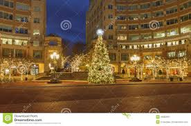 city lights at town center reston town center christmas tree holiday virginia editorial