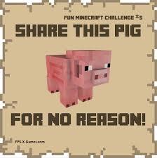 Challenge Reason Minecraft Challenge The Pig Minecraft