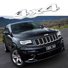 jeep grand cherokee stickers jeep grand cherokee wj zj 4x4 chrome 3d logo aluminum badge decal
