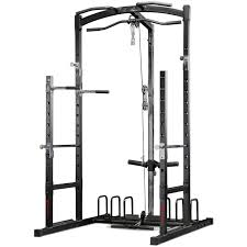 combine heavy compound barbell exercises on the power rack with