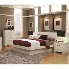 jessica bedroom set coaster jessica 4 piece platform bedroom set in white 202990x pkg