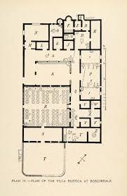 Roman Villa Floor Plans by 1899 Lithograph Architecture Roman Pompeii Italy Layout Villa