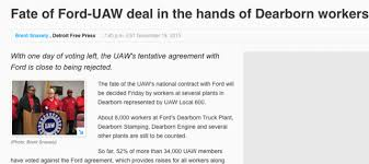 ford dearborn truck plant phone number evidence of uaw vote rigging in 2015 ford contract