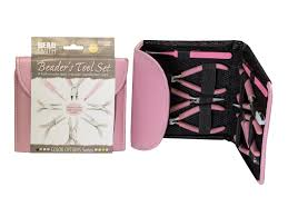 Pink Colour by Beadsmith Beaders Tool Kit In Bubblegum Pink Colour Cooksongold Com