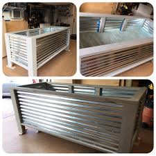 deck rail planters lowes 3 x8 diy above ground planter box built with 3 sheets corrugated