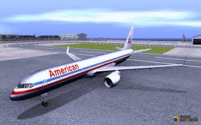 757 200 american airlines for gta san andreas