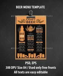 20 beer menu templates u2013 free sample example format download