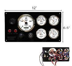 black detroit diesel marine engine instrument panel white gauges