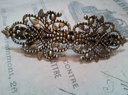barrette clip wholesale hair accessories barrette clip blanks filigree antiqued