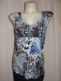 Dress Barn Boston Dressbarn Blue Brown Paisley Sleeveless Ruched Waist Dress Shrug