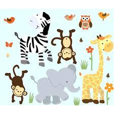 Monkey Nursery Wall Decals Nursery Safari Wall Decals Nursery Jungle Wall Decals With Zebra