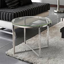 bout de canap verre bout de canapé verre transparent sur cdc design
