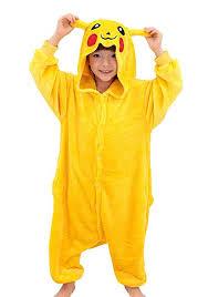 Bulbasaur Halloween Costume Amazon Tonwhar Pikachu Kigurumi Costumes Children Kids