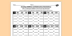 inverse operations worksheet by misshunt teaching resources tes