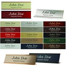 Name Plate Desk Personalized Office Name Plate With Wall Or Desk Holder 2x8