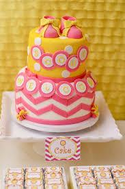 baby shower cake orange pink yellow josselyn peterson wilson